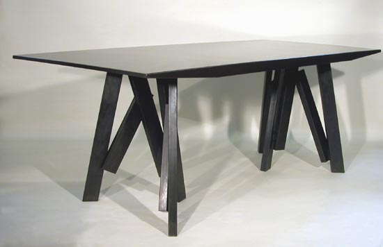 TABLE TRETEAUX BARRES